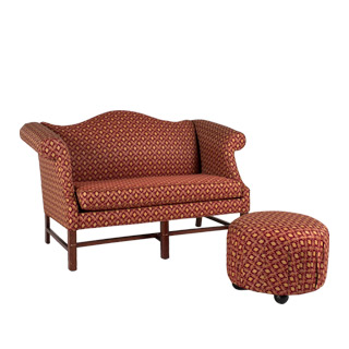 "58""w x 34""d Burgundy Chippendale Loveseat LVS006316"