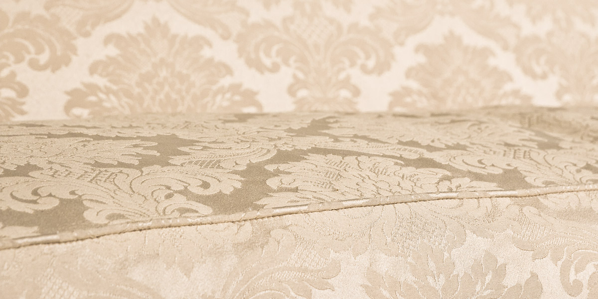 "85""w x 34""d Cream Damask Chippendale Sofa SOF002178"