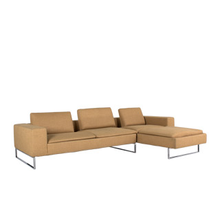 "75""w x 39""d Tan Fabric Sofa Sectional SOF009224"