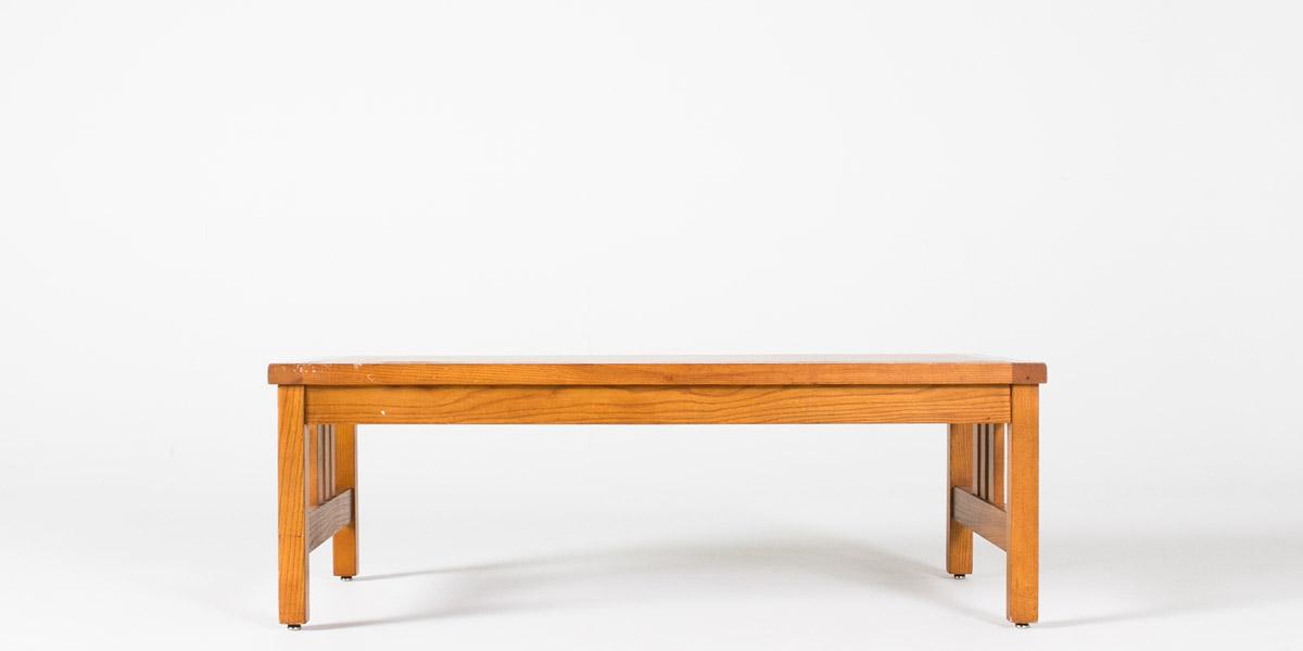 """48""""w x 24""""d Medium Oak Mission Coffee Table TBL000343"""