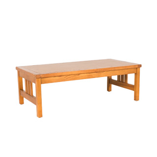 "48""w x 24""d Medium Oak Mission Coffee Table TBL000343"