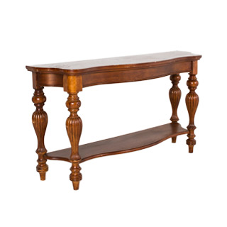 "66""w x 20""d Ornate Walnut Console Table TBL001223"