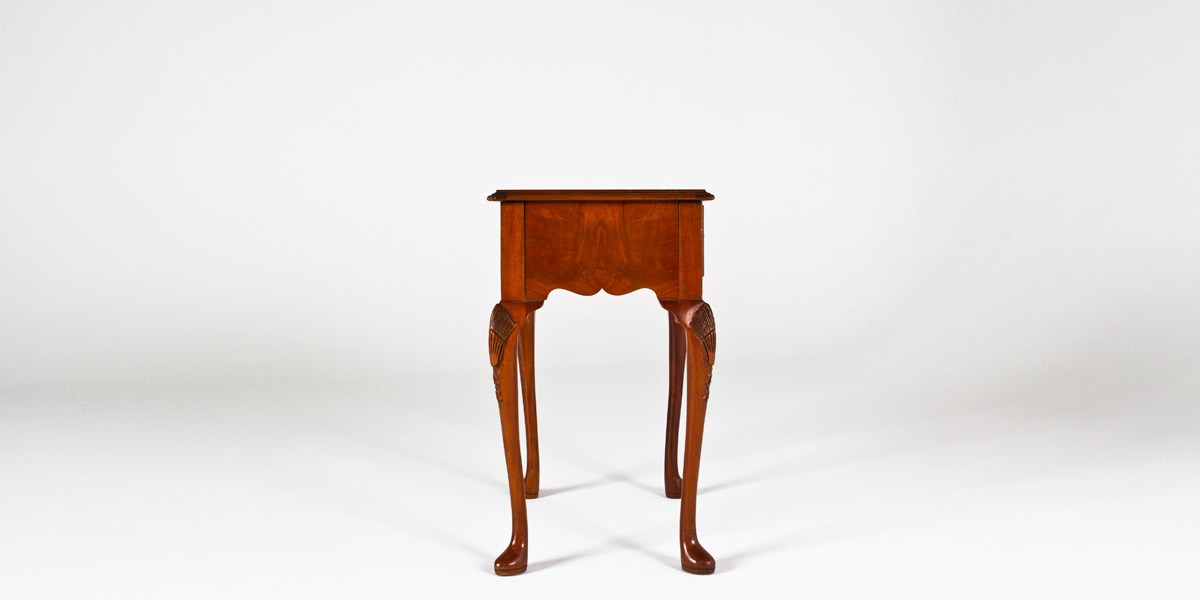 "26""w x 17""d Walnut Side Table TBL002299"