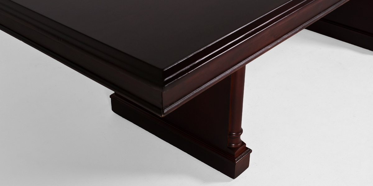 """96""""w x 42""""d Dark Cherry Traditional Conference Table TBL002353"""