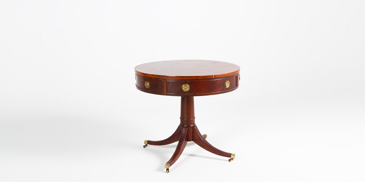 "30""dia Cherry Round Side Table TBL002379"