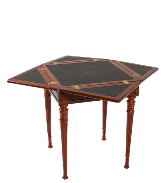 "33.5""w x 33.5""d Mahogany Square Game Table TBL006058"