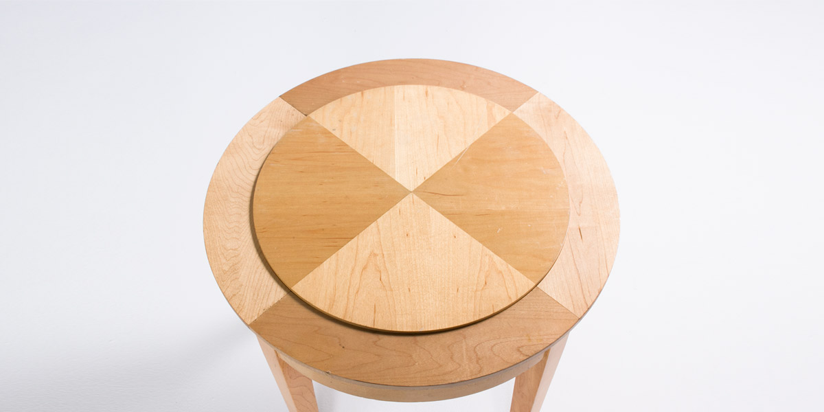 "22""dia Natural Round Side Table TBL007673"