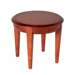 "21""dia Medium Cherry Round Side Table TBL007676"