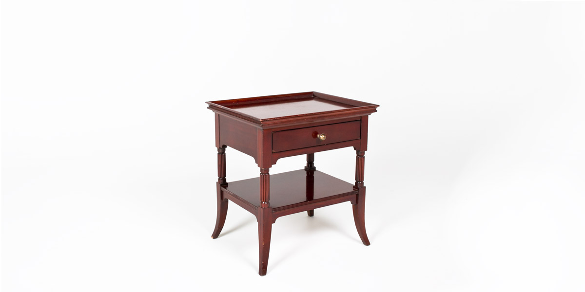 "26""w x 21""d Mahogany Side Table TBL009322"