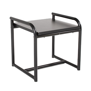 "22""w x 19""d Black Laminate Side Table TBL010133"