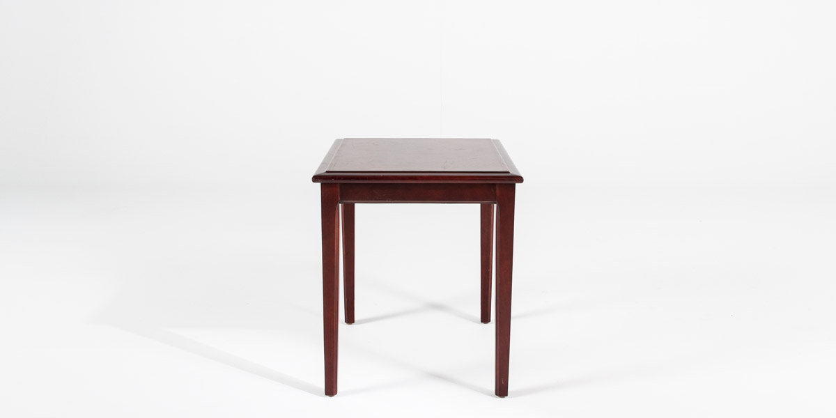 20 W X 24 D Mahogany Side Table Tbl010315 Arenson Office Furnishings
