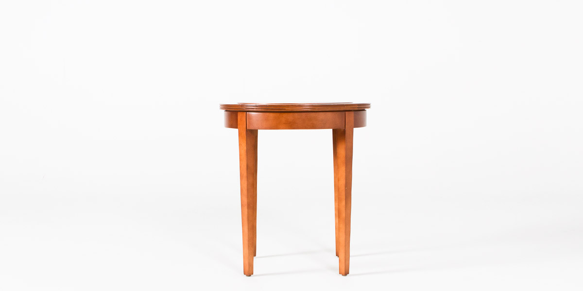 "21""dia Light Walnut Round Side Table TBL011464"