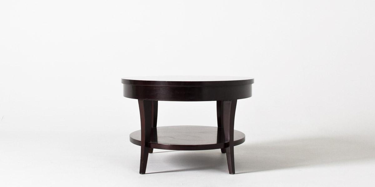 """42""""w x 28""""d Dark Walnut Oval Coffee Table TBL011775"""