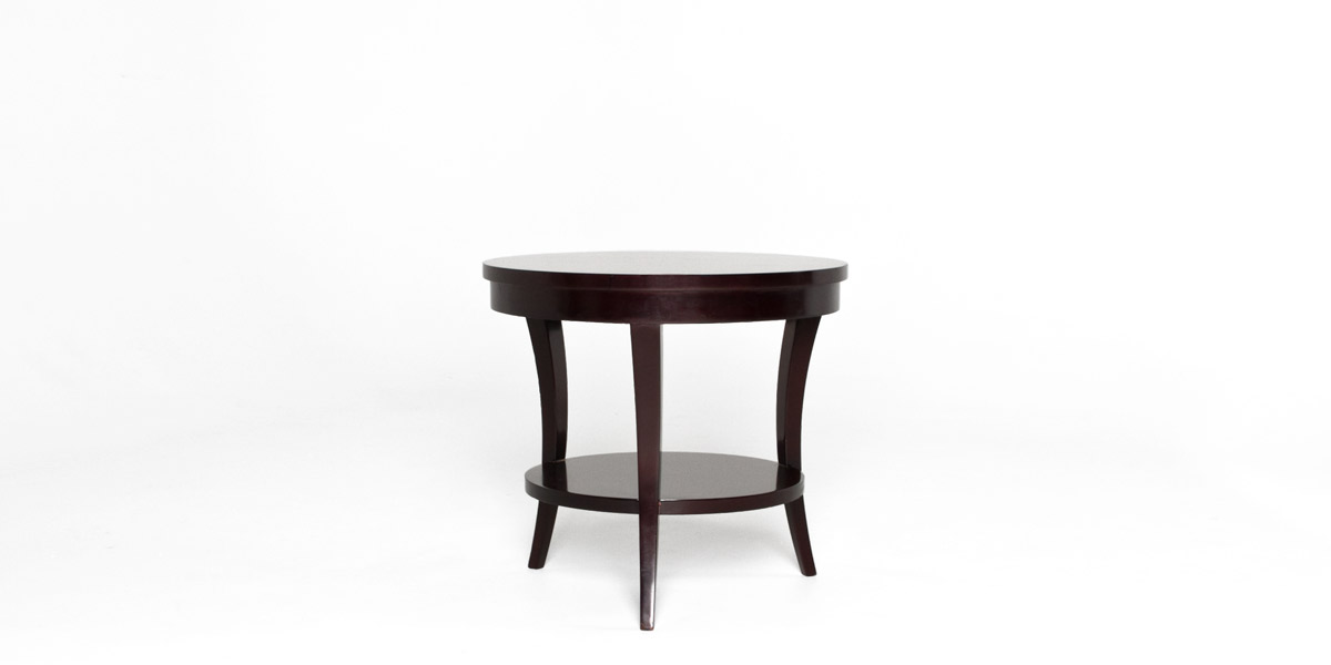 "24""dia Dark Walnut Round End Table TBL011779"