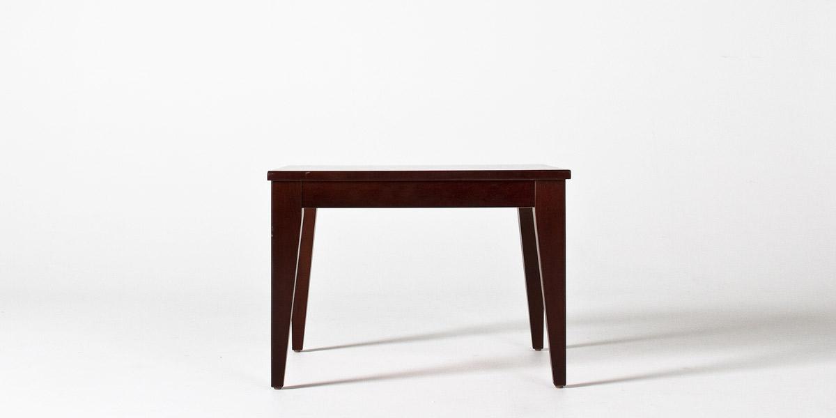 """28""""w x 24""""d Walnut Veneer Side Table TBL012105"""