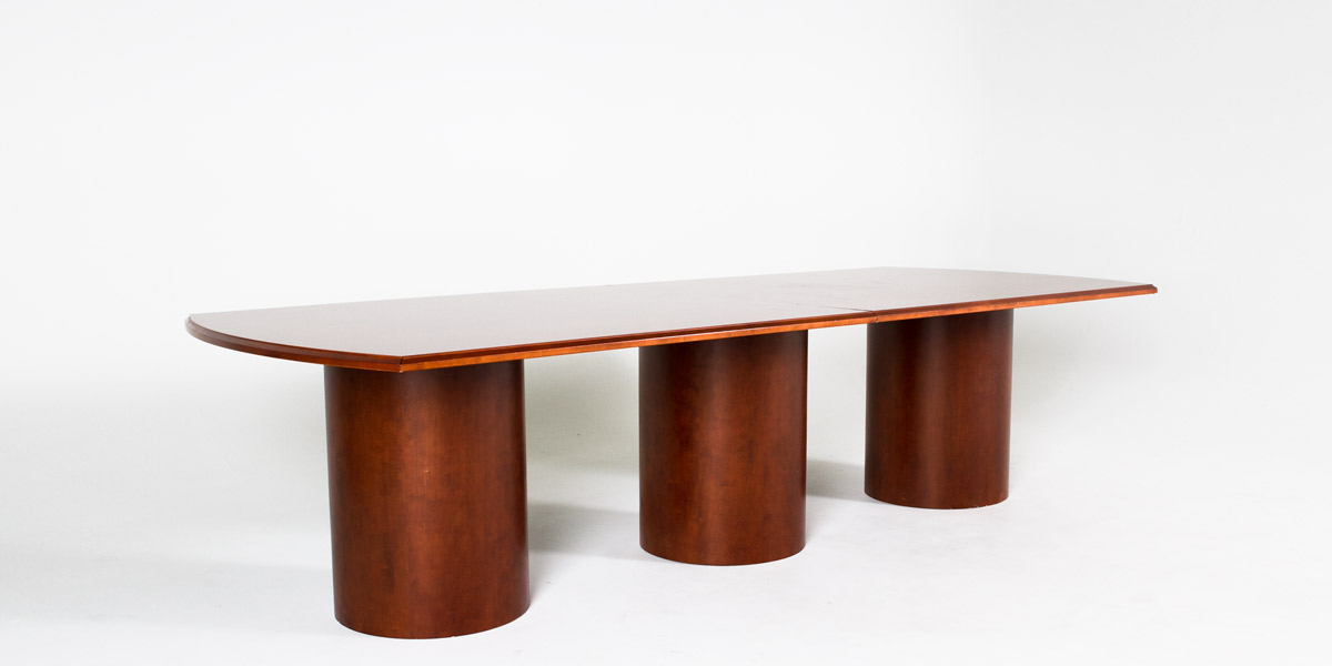 """120""""w x 48""""d Dark Cherry Conference Table TBL012136"""