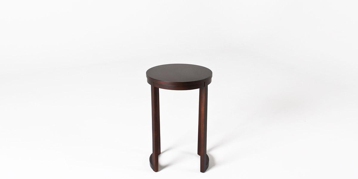 "16""dia Merlot Round Side Table TBL012497"