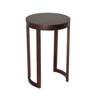 "16""dia Merlot Round Side Table TBL012497"