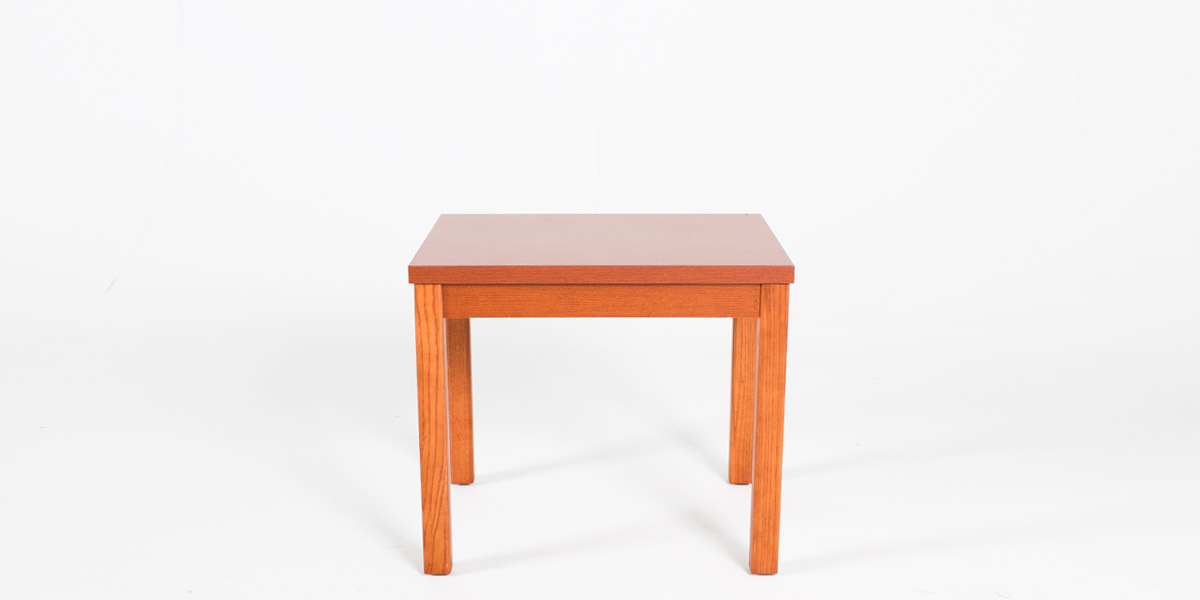 "24""w x 24""d Honey Oak Laminate Side Table TBL012882"