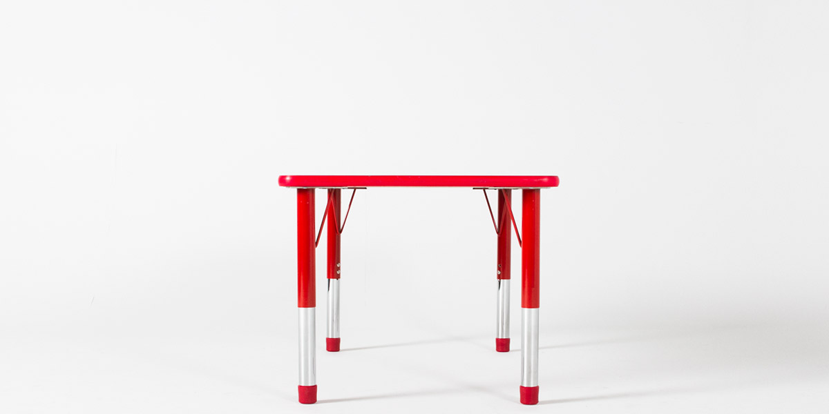 "48""w x 30""d Red Children's Work Table TBL013115"