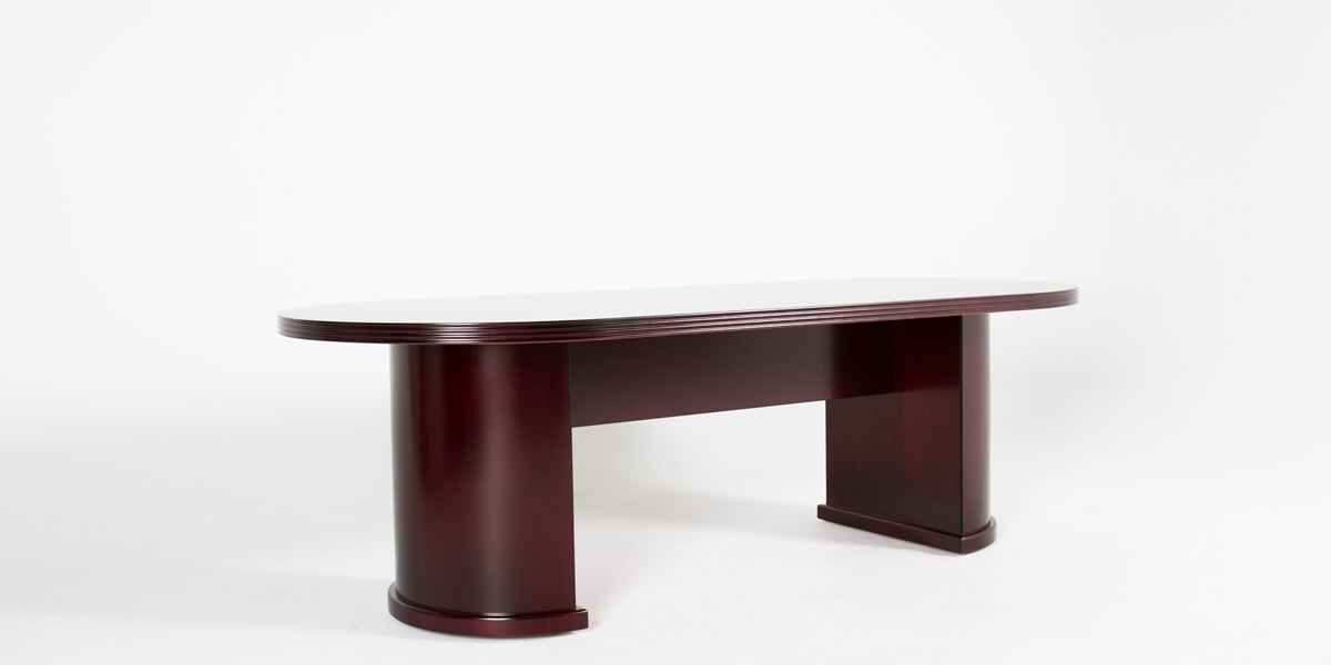 "96""w x 42""d Mahogany Conference Table TBL013134"
