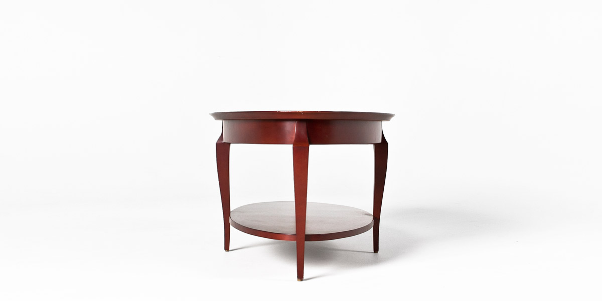 "48""w x 28""d Cherry Oval Coffee Table TBL013410"