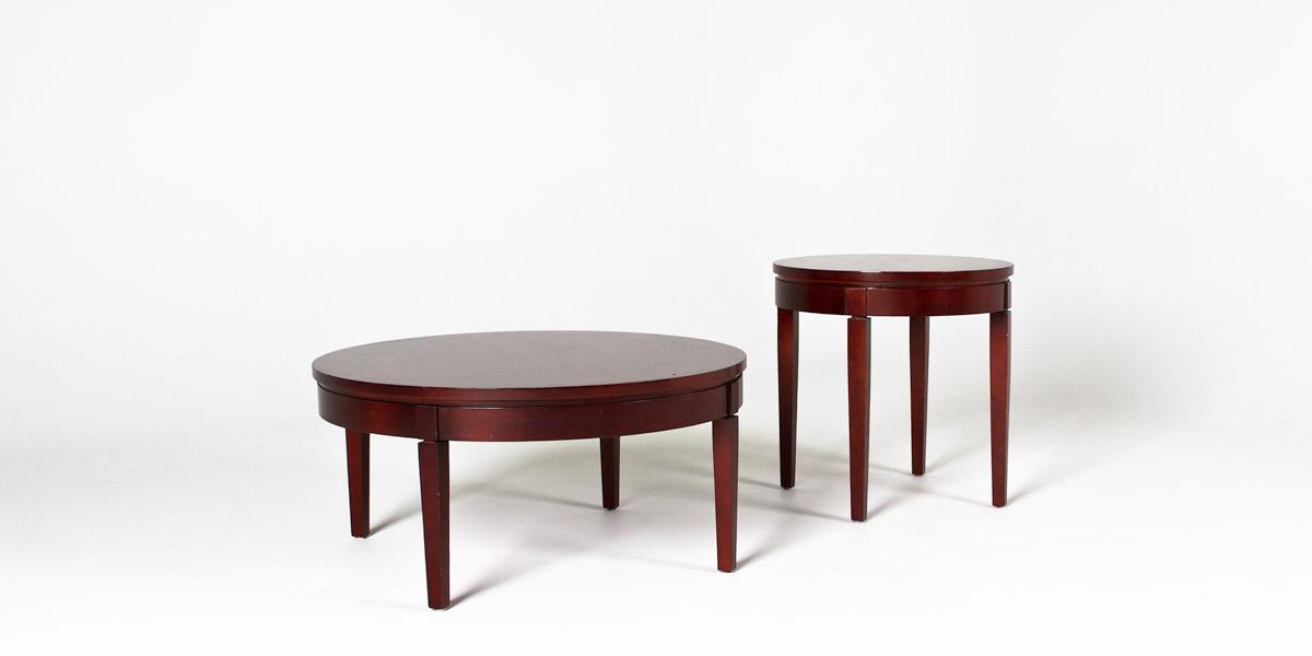 "36""dia Medium Cherry Round Coffee Table TBR008603"