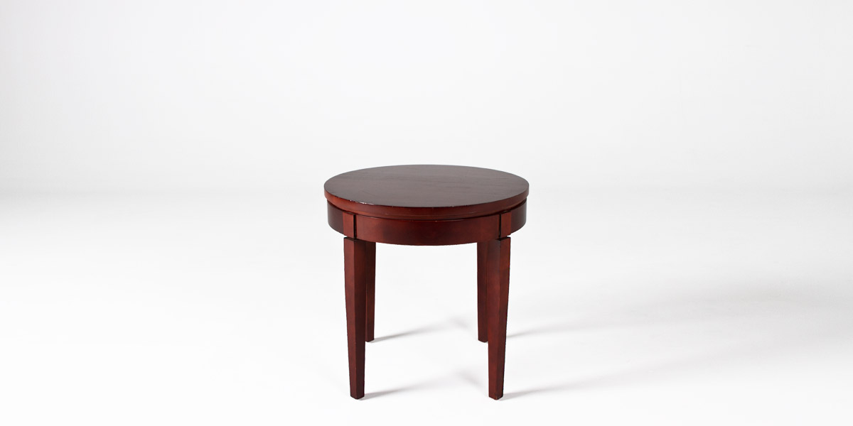 "23""dia Medium Cherry Round Side Table TBR008604"