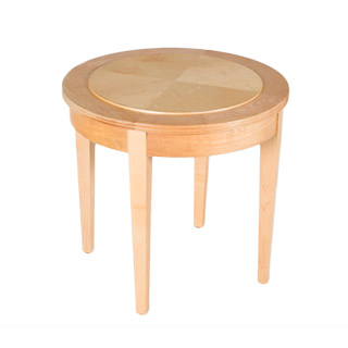 "21""dia Natural Round Side Table TBR008607"