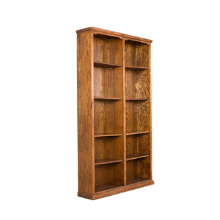 "48""w x 84""h Medium Oak Bookcase BKC000268"