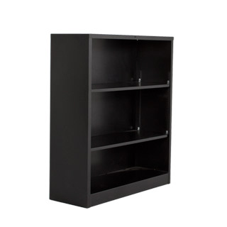 "34.5""w x 41""h Black Metal Bookcase BKC003336"