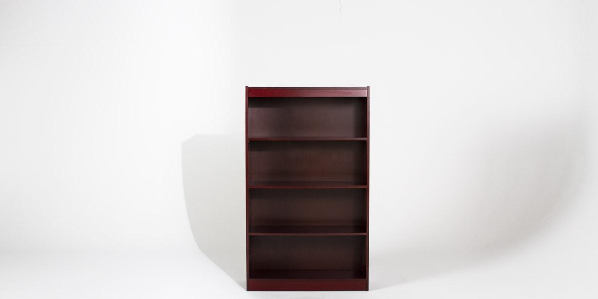 """30""""w x 60""""h Mahogany Veneer Bookcase BKC006778"""