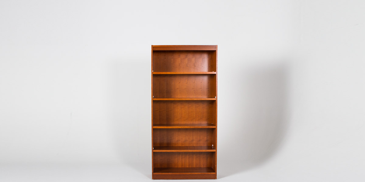 """36""""w x 72""""h Cherry Veneer Bookcase BKC007370"""