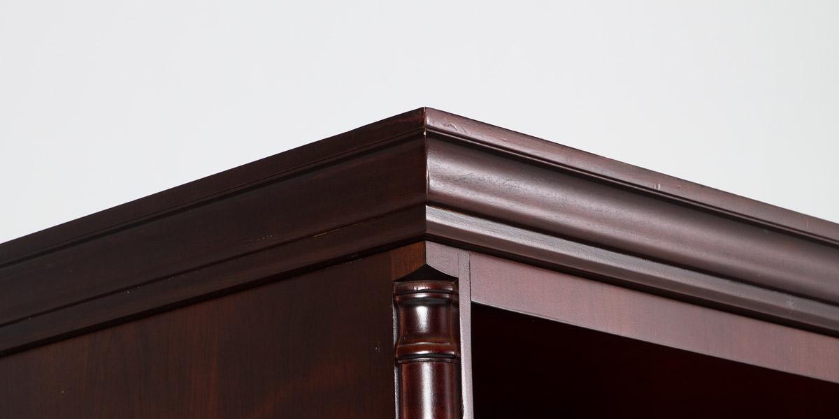 """37""""w x 79""""h Dark Mahogany Bookcase BKC010649"""