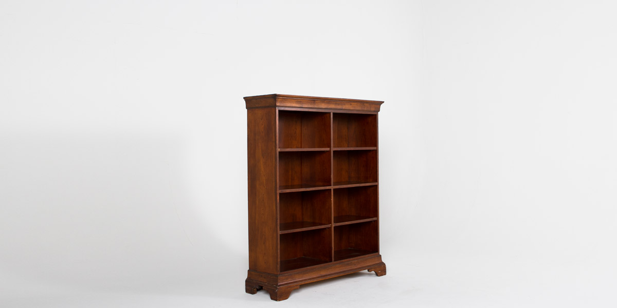 "48""w x 60""h Walnut Bookcase BKC011134"