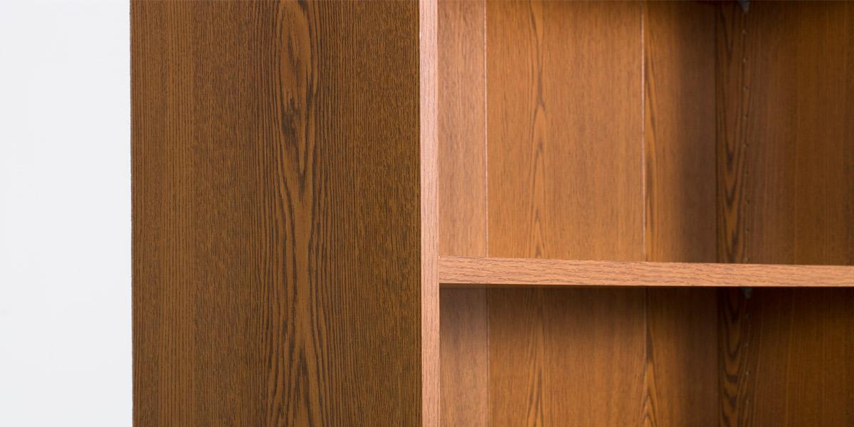 "36""w x 84""h Medium Oak Laminate Bookcase + Cabinet BKC011403"