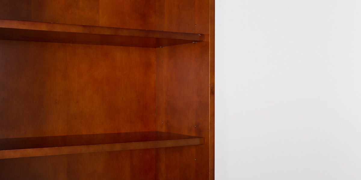 "36""w x 79""h Medium Cherry Bookcase BKC011425"