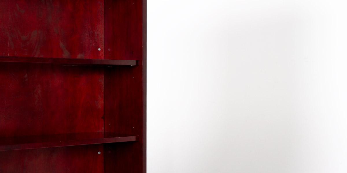 """36""""w x 79""""h Mahogany Bookcase BKC011672"""