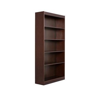 "36""w x 72""h Walnut Veneer Bookcase BKC011713"