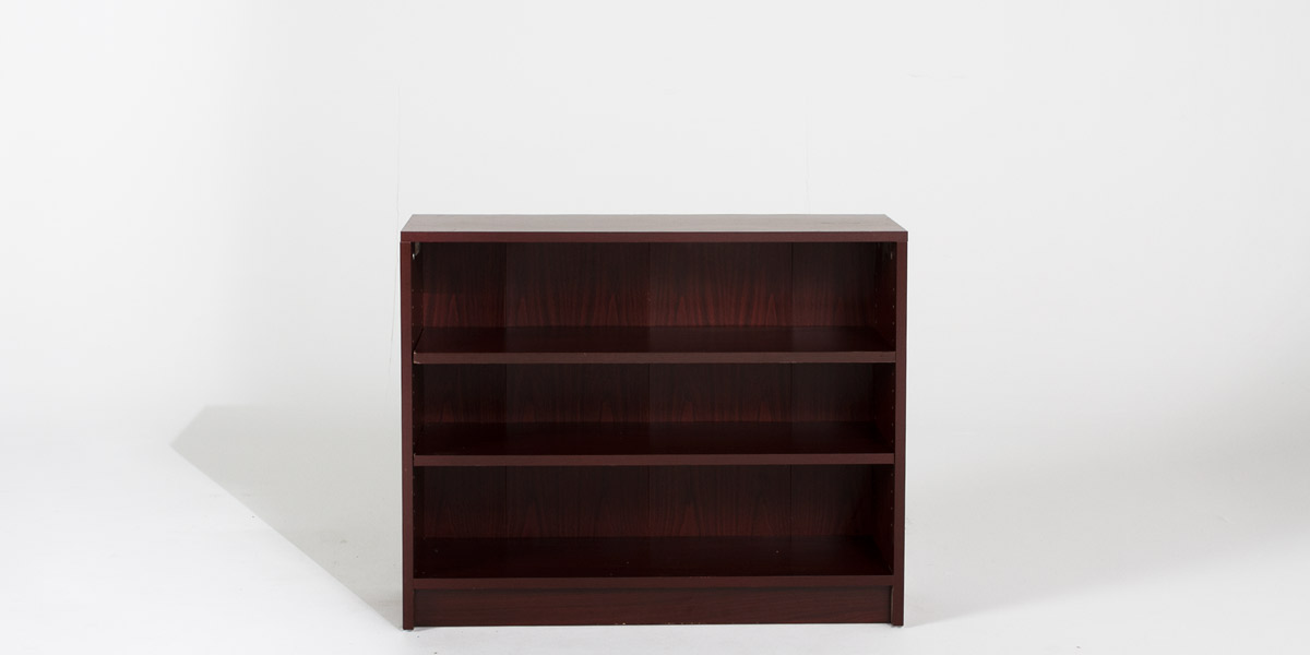 """36""""w x 30""""h Mahogany Bookcase BKC011981"""