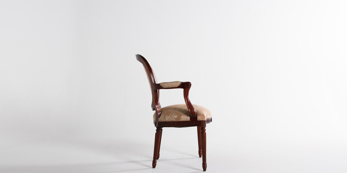 Mahogany Round Back Guest Chair CHR009317