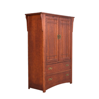 "44""w x 18""d Medium Cherry Mission TV Armoire CHT003657"