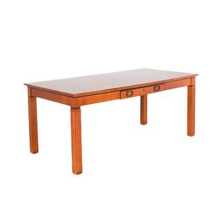"""72""""w x 36""""d Golden Cherry Veneer Table Desk DSK001353"""