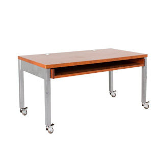 "60""w x 30""d Cherry Metal Pocket Desk DSK006801"