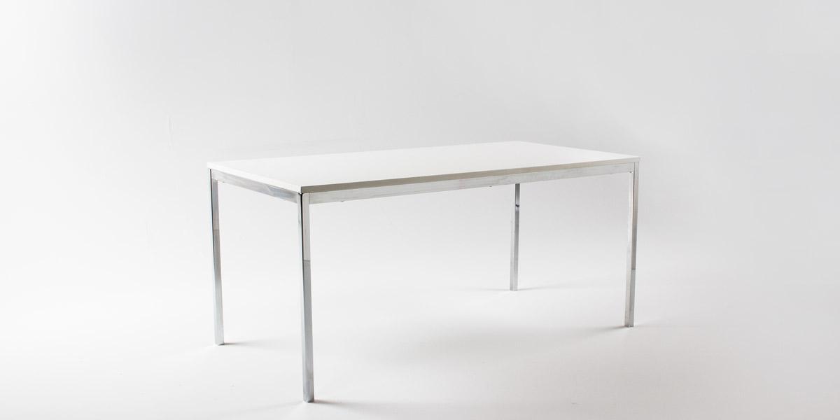 63w x 315d White Laminate Table DSK010499 Arenson Office