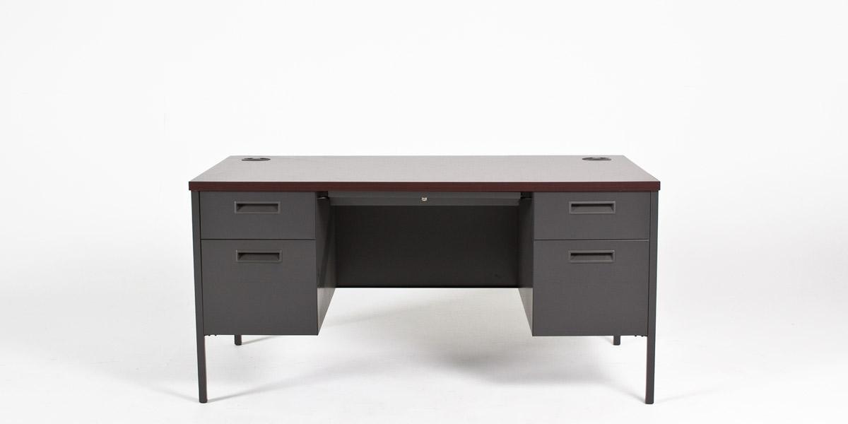 "60""w x 30""d Dark Grey Metal Desk DSK013046"