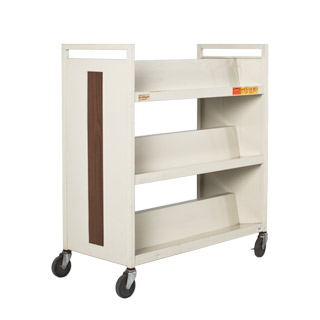 "37""w x 18""d Putty Library Cart MIS003933"
