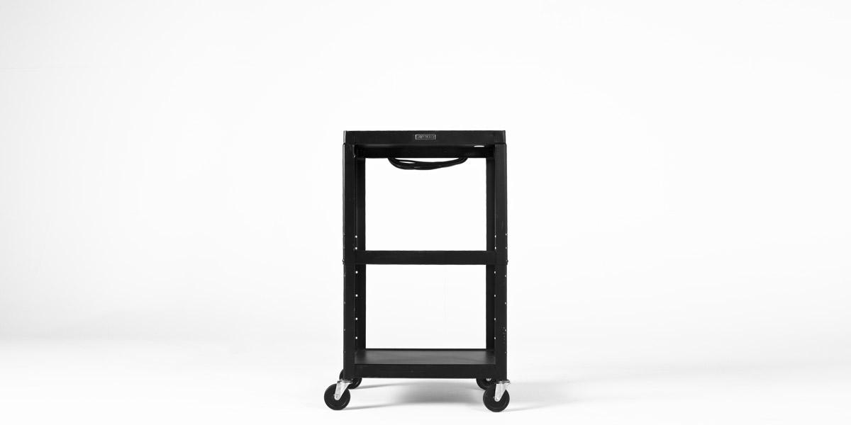 """24""""w x 18""""d Black Mobile Cart MIS004663"""