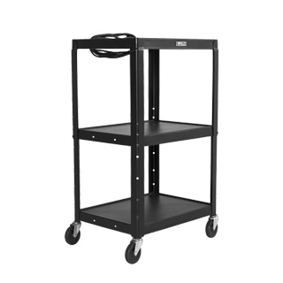 "24""w x 18""d Black Mobile Cart MIS004663"