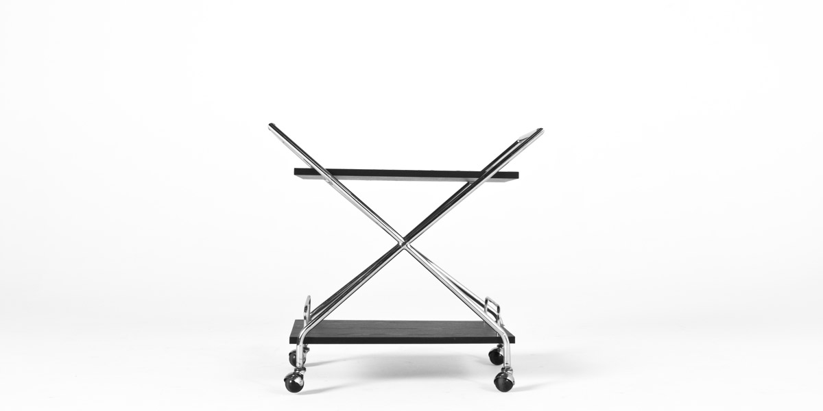 "28.5""w x 16.5""d Chrome Service Cart MIS009972"